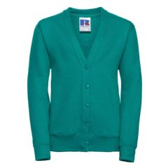 CROSSROADS  PRIMARYSCHOOL WINTER EMERALD CARDIGAN WITH LOGO